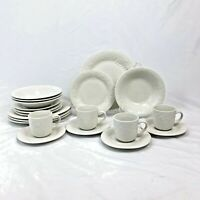 20 PIECE SET GIBSON DESIGNS FOUR SEASONS DINNERWARE DINNER SALAD PLATE BOWL CUP