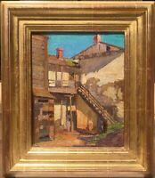 Unknown Artist E Charlton Fortune? Listed Oil/Cv/Bd Robert Lewis Stevenson House