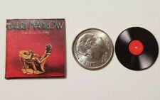 """Dollhouse Miniature Record Album 1"""" 1/12 scale Barbie Barry Manilow Trying Feel"""