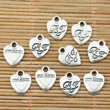 16pcs tibetan silver tone always lettering charms EF2233