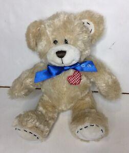 Build A Bear Workshop Plush Golden Tan Bear With 2009 Bow Tie Soft Toy 25cm