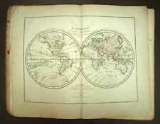 ATLAS D'ETUDE ADOPTE POUR LES ELEVES DE L'ECOLE ROYALE Edme MENTELLE 1826