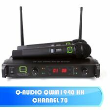 Q-AUDIO QWM1940 HH PROFESSIONAL TWIN 16 CHANNEL UHF WIRELESS MICROPHONE SYSTEM