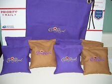 Crown Royal Embroidered Cornhole Corn Hole Bags Set of 8 with Storage Bag
