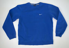 Womens Nike Basic Swoosh Crewneck Sweatshirt Size L Blue