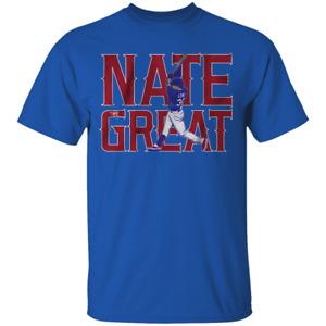 Men's The Great Nate Lowe Texas Rangers Logo 2021 Royal T-shirt S-4XL