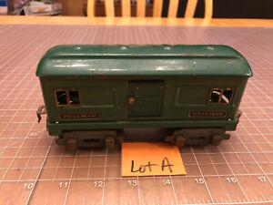 American Flyer Lines O Green 1214 Pullman Passenger Car Tinplate Tin Litho Lot A
