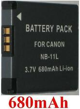 Batterie 680mAh type NB-11L NB-11LH NB11L NB11LH Pour Canon Digital IXUS 145