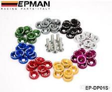EPMAN 8 Pcs M6X20 ENGINE BUMPER FENDER WASHERS KIT BOLT SCREW fits HONDA CIVIC