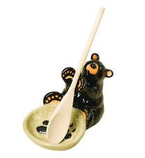 Big Sky Carvers Bearfoots Bear Spoon Holder Demdaco # 30150060