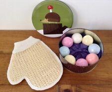 SALE! Cute Hedgehog & Toadstool Forest Tin 8 x Colourful Bath Bombs Loofah Mitt