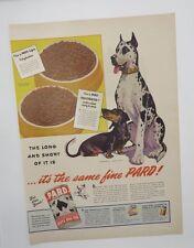 Original Print Ad 1944 Pard Dog Food Morgan Dennis Great Dane L2