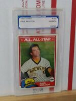 1981 Topps Paul Molitor #300 Baseball All Star Card Milwaukee Brewers PGS GRADED