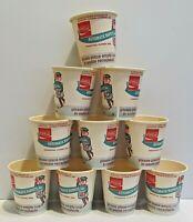 LOT OT (10) VINTAGE PLASTIC LINED VENDING CUPS COCA-COLA AUTOMATIC BUFFETS, INC