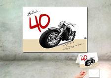 """DigitalOase """"Endlich 40"""" Wandbild Poster 30 x 40 cm 40. Geburtstag + Karte A6"""