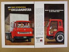1963 IH International CO-Loadstar Tilt-Cab Truck color art vintage print Ad