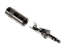 """Stereo Jack Plug Screw-on Cable Sleeve 1/8"""" Mini Jack Plugs 3.5mm Cable Mount UK"""