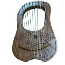 SL New Lyre Harp Rosewood Engraved 10 Metal Strings/Lyra Harp Rose Wood/Harfe