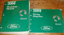 Original 2004 Ford Focus Shop Service Manual + EVTM Wiring Diagram Set 04