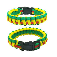 Green Outdoor Camping Paracord Bracelet Wristband Emergency Survival Unisex