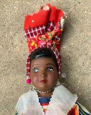 Vintage antique Americana doll black? hand sewn body ceramic head