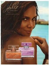 Halle Berry Fragrance Beach Sand Perfume 8x10.75 Advertisement Ad Clipping 2010