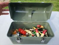 Fishing lure lot vintage in a stanley lunchbox