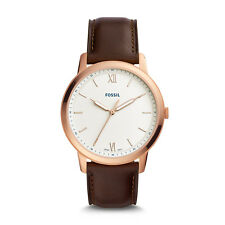 FOSSIL FS5463 The Minimalist Slim Rose Stainless Steel Leather 44mm Men's Watch
