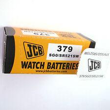 10 x JCB 379 Silver Oxide SR521SW 1.55V Watch Battery SG0