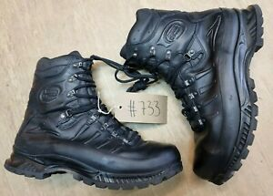 Meindl German Army SF Issue Black Leather GoreTex Combat Boots Size 13.5 UK #733