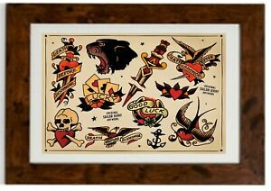 Sailor Jerry Tattoo Vintage SJT4 Framed Print