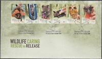 """2010 FDC Australia. Wildlife Caring-Rescue to Release. PictFDI""""SANCTUARY COVE"""