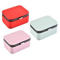PU Leather Jewelry Gift Box Storage Case Ring Pendant Earrings Trinket Organizer