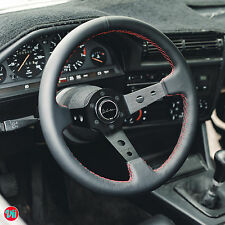 STEERING WHEEL GENUINE LEATHER **RED STITCH** VIILANTE TOURISMO 350mm FITS NRG