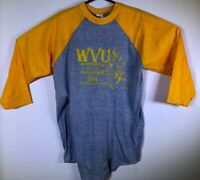 VTG West Virginia WVU Mountaineers Y T-shirt M Deadstock NWOT 1984 Jersey Style