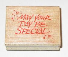 May Your Day Be Special Rubber Stamp Retired Hero Arts D660 Stars Hearts