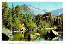 Bear Lake Long's Peak Postcard Colorado Rocky Mountains 1974 Postmark