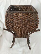 Antique Wicker Plant Stand Wonderful Rare Collectable