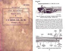 US Rifle Model M1 1942 - .30 Cal, Springfield Garand Manual