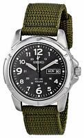 Seiko Men's SNE095P2 'Solar' Green Nylon Watch
