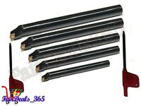 SCLCR 8,10,12,16,20 INDEXABLE BORING BAR SET 5 PCS WITH CCMT HI PRECISION INSERT