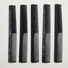 5x Professional Salon Barber Hairdressing Cutting Comb 7 inch Black
