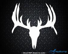 """Deer Skull Hunt Hunting Buck Car Decal / Laptop Sticker - WHITE 5"""""""