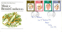 10 SEPTEMBER 1980 FAMOUS CONDUCTORS POST OFFICE FIRST DAY COVER HASTINGS FDI
