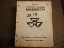 Massey Ferguson 410 Combine Parts Manual