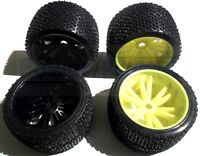 """Turnigy 3.8"""" 1/8 Truggy Monster Truck Wheel & Tyre set +Offset, Low Weight, 17mm"""