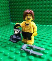 Lego Jungle Boy Tarzan Minifigures Monkey Dagger Knife City Town 8831 Series 7