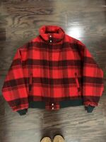 Vintage Woolrich Buffalo Plaid Wool Jacket Coat USA Zip Up Mens XL Insulated Vtg