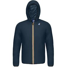 K-Way LE VRAI 3.0 Claude Light Padded Hooded Waterproof Jacket $199 Blue NEW L