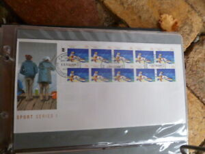1989 AUSTRALIAN SPORTS SERIES I FISHING FIRST DAY COVER FULL LM BOOKLET PANE